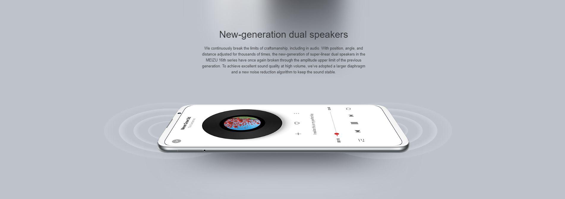 Meizu 16th - stereo speaker