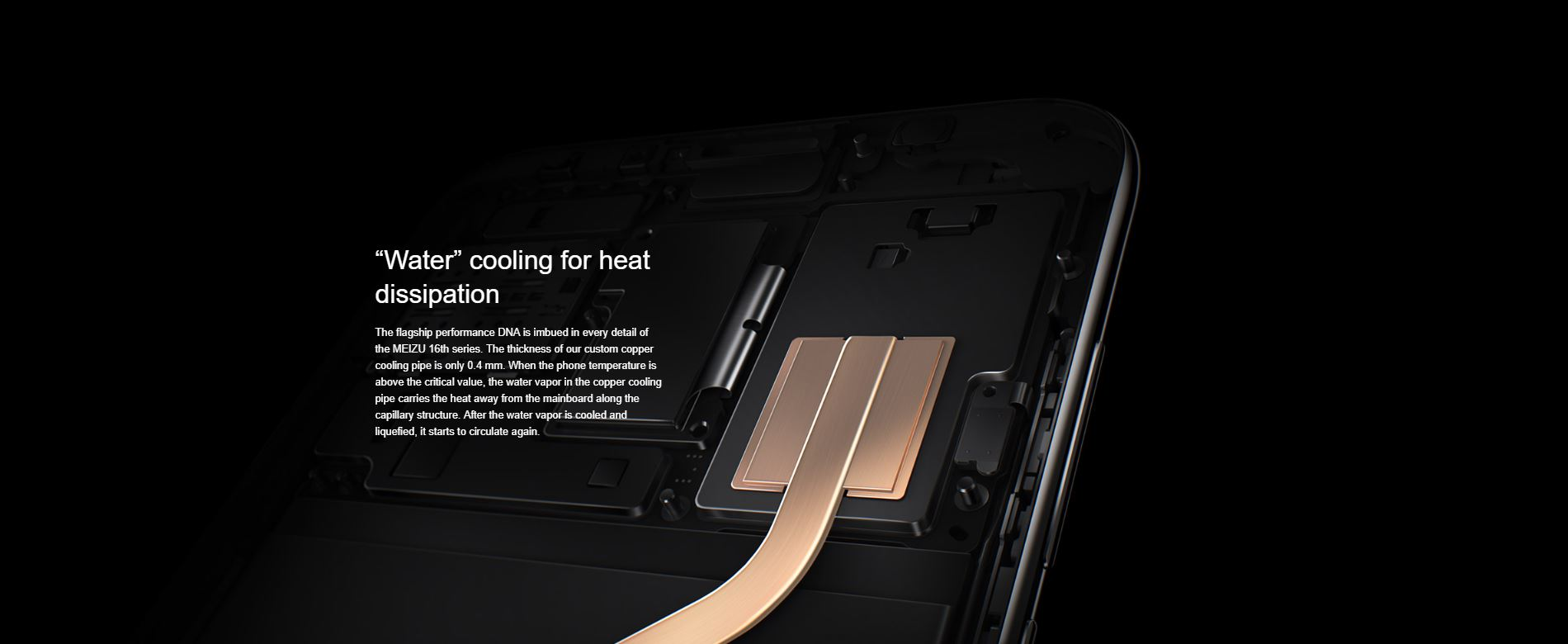 Meizu 16th - Water cooling