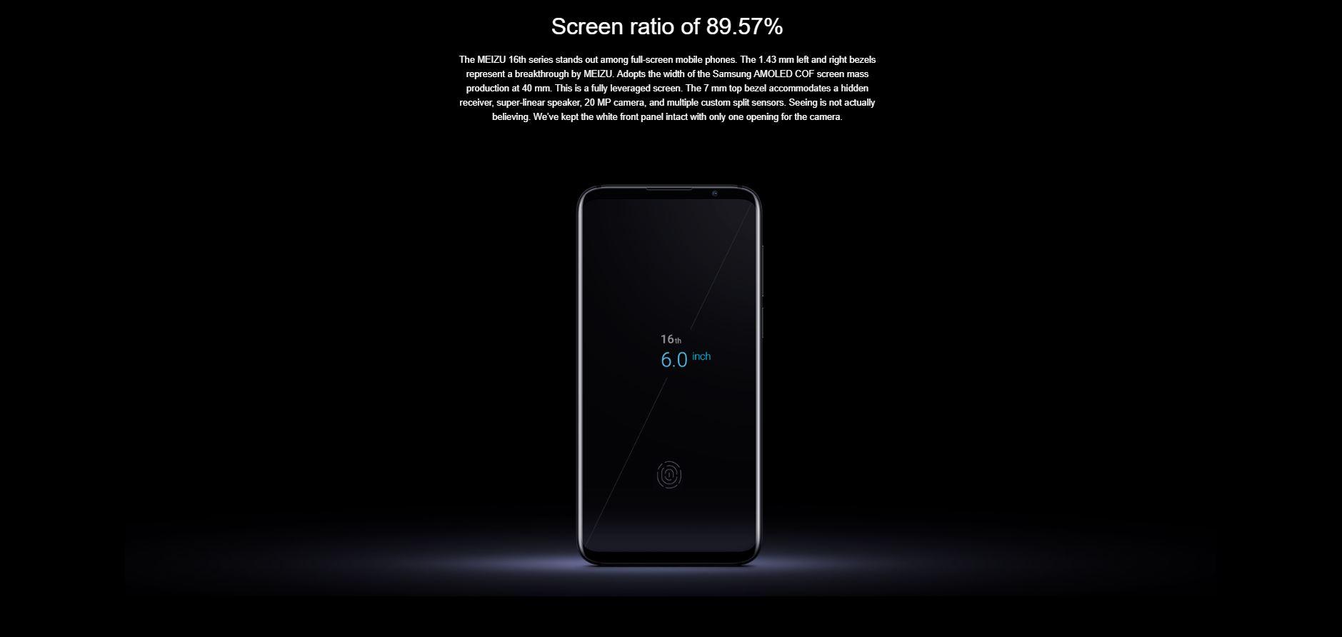 Meizu 16th - screen