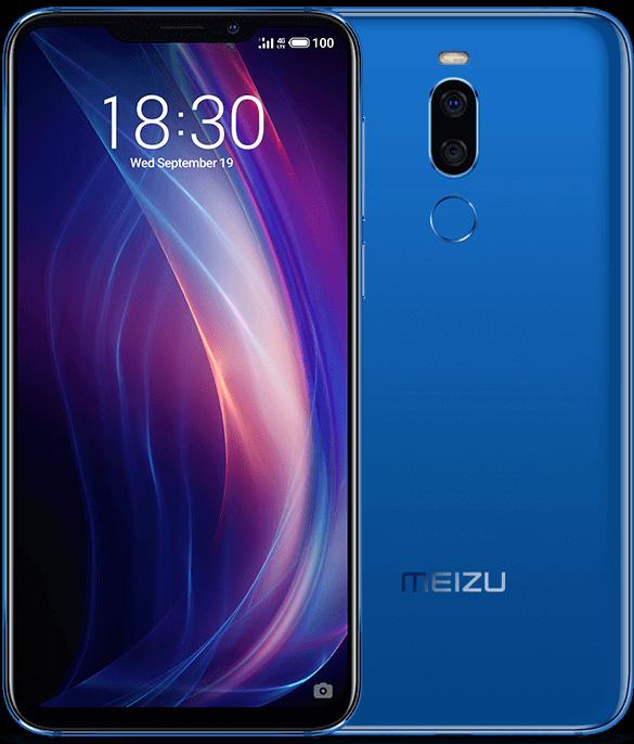 Meizu X8 bleu