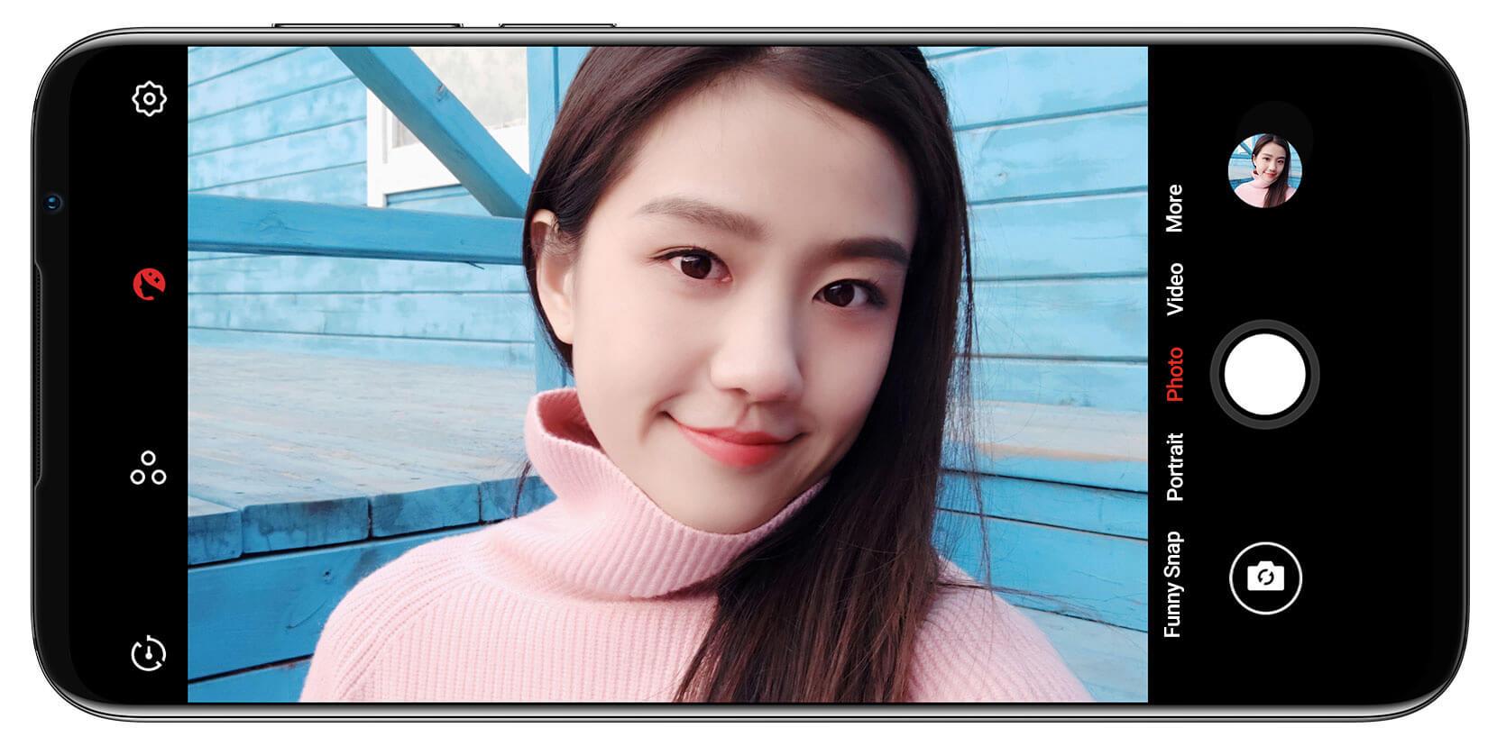 Meizu 16s cámara selfie